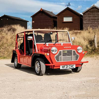 Michael Young revives James Bond's iconic car Moke for the 21st century