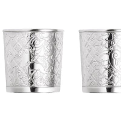Silver-Plated Set of 2 Shots