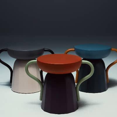 Allié Stool & Side Table