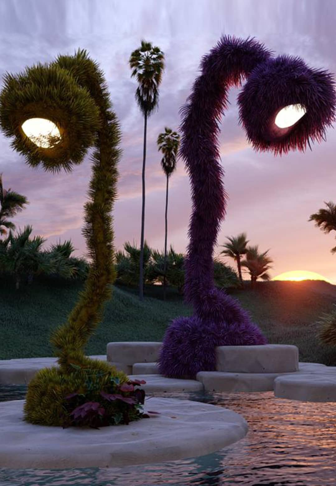 Khaled El Mays creates an enchanting jungle for Nilufar Gallery at Supersalone 2021